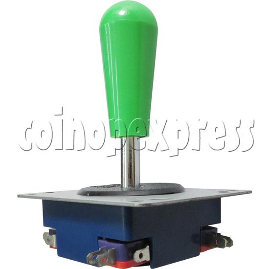 8 Way Green Ellipse Joystick - angle view