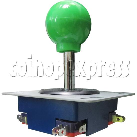 8 Way Green Ball Joystick - angle view