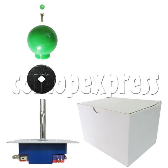 8 Way Green Ball Joystick - full set