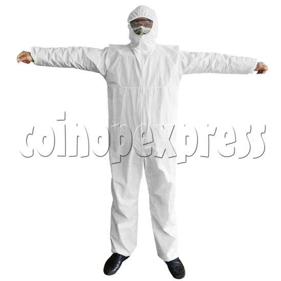 Medical Surgical Disposable Ant-Virus Anti-waterproof Protective Clothing I type - front view