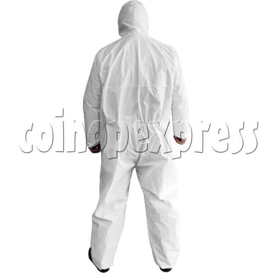 Medical Surgical Disposable Ant-Virus Anti-waterproof Protective Clothing I type - back view