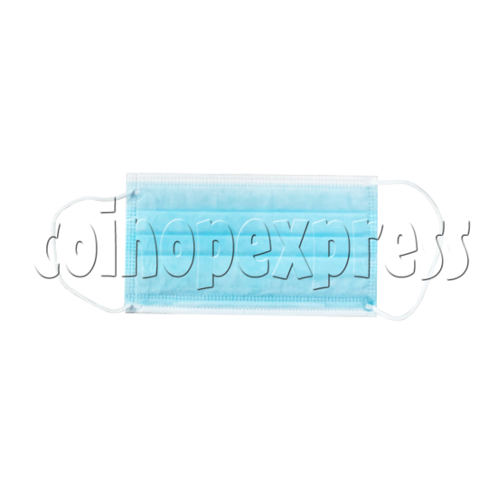 Disposable Blue Medical Face Mask With Earloop - front view