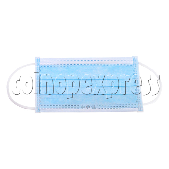 Blue Standard Medical Surgical Face Mask With Earloop and Covered Edge - front view