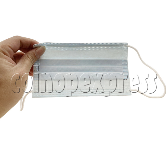 Disposable Blue Standard Medical Surgical Face Mask - back view
