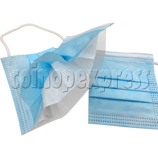 Disposable Blue Standard Medical Surgical Face Mask - detail view
