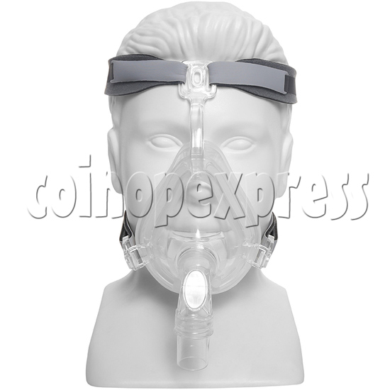 Medical Durable Sleep Apnea ComfortGel Full Face CPAP Nasal Mask With Headgear Strap - front view