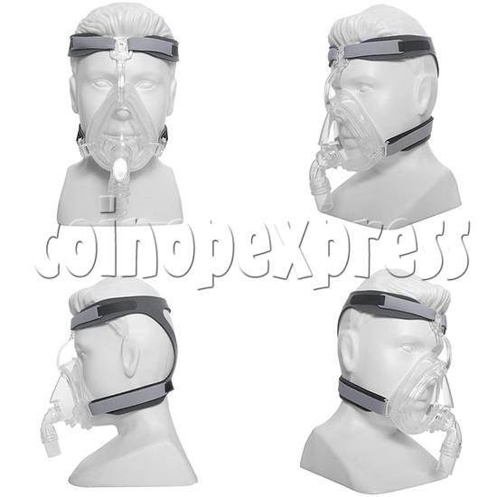 Medical Durable Sleep Apnea ComfortGel Full Face CPAP Nasal Mask With Headgear Strap - multi-angle