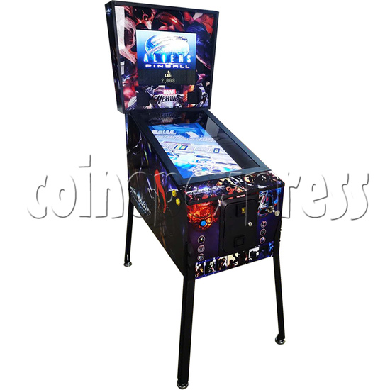 Alliens Club Video Pinball Machine - left view