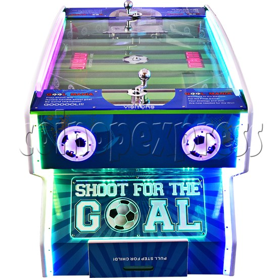 Goal Mania Soccer Table Game Machine - side view