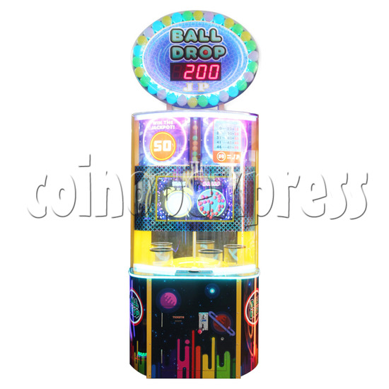 Ball Drop Ticket Redemption Machine - front view