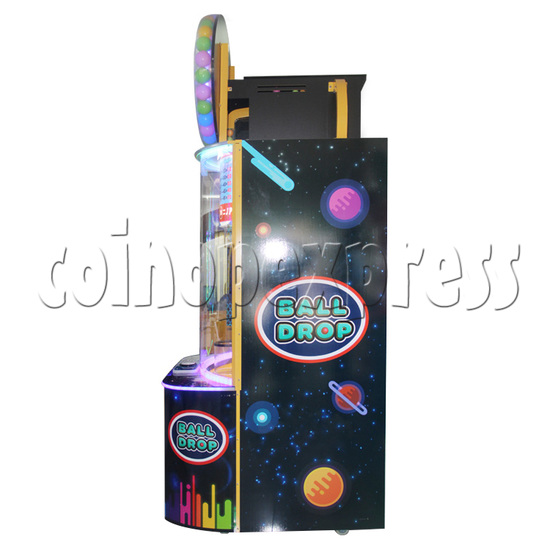 Ball Drop Ticket Redemption Machine - side view