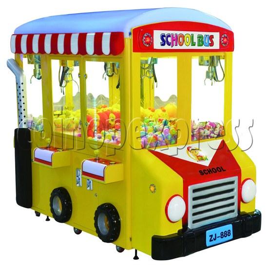 School Bus Crane Machine 6 players - left view