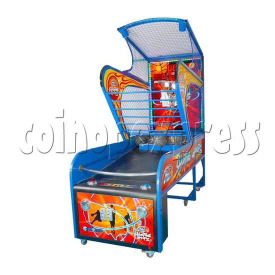 Shooting Hoops 6 Basketball Machine - right view