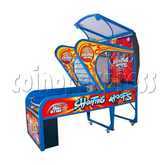 Shooting Hoops 6 Basketball Machine - right side view