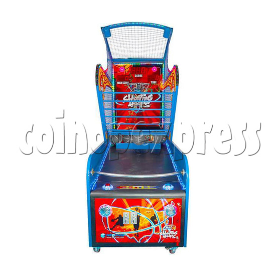 Shooting Hoops 6 Basketball Machine - front view