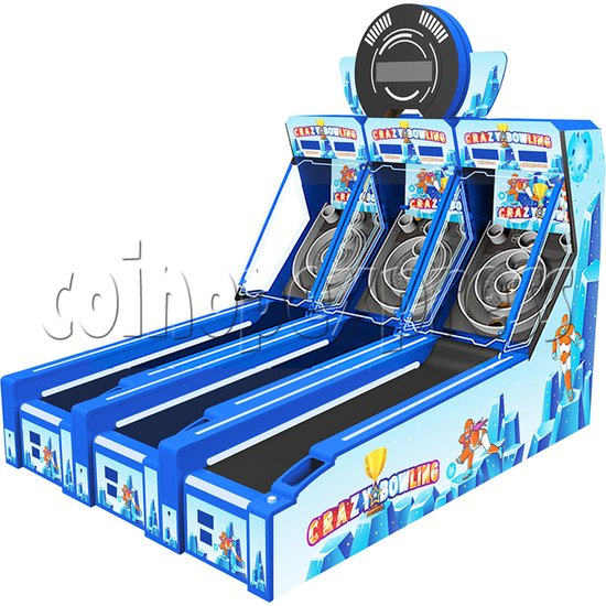 Crazy Bowling Ticket Redemption Machine 3 players - right view