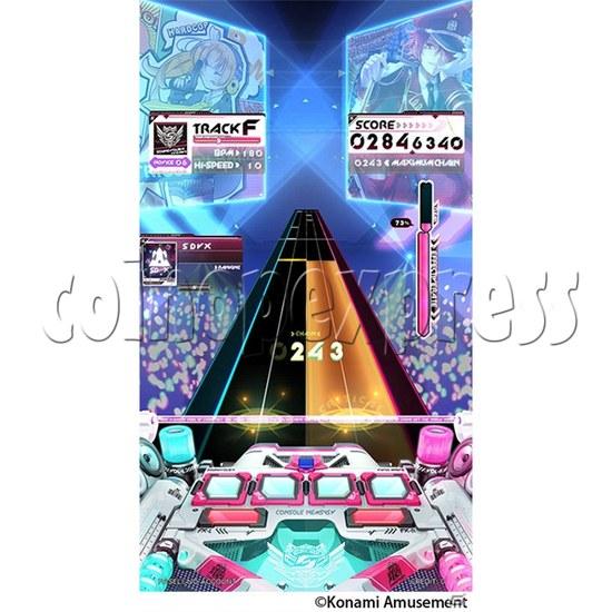 Sound Voltex 5 Vivid Wave Arcade Machine - screen display 2