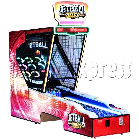 Jet Ball Alley Ticket Redemption Machine - left view