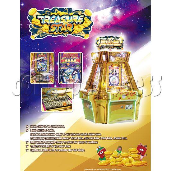 Treasure Star Ticket Redemption Arcade Machine - catalogue