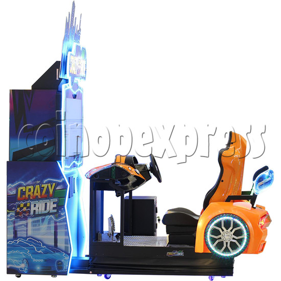 Crazy Ride Driving Machine - side view