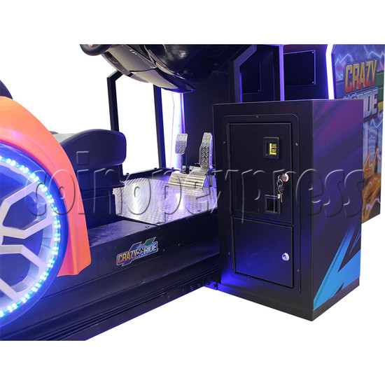 Crazy Ride Driving Machine - coin entrance and coin box