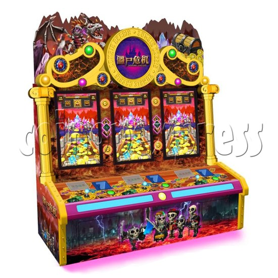 Zombie Crisis Ticket Redemption Arcade Machine - left view