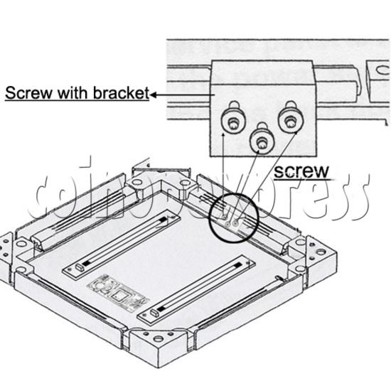 DDR floor sensor metal cover - installation