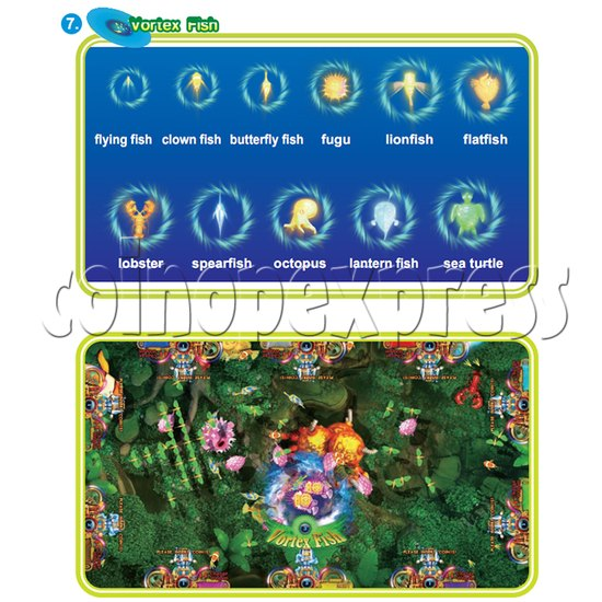 IGS Ocean King 3 Plus: King Kong's Rampage Full Game Board Kit - vortex fish
