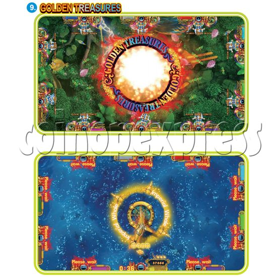 IGS Ocean King 3 Plus: King Kong's Rampage Full Game Board Kit - golden treasures