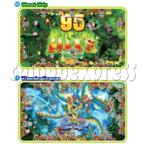 IGS Ocean King 3 Plus: King Kong's Rampage Full Game Board Kit - ghost ship & thunder dragon