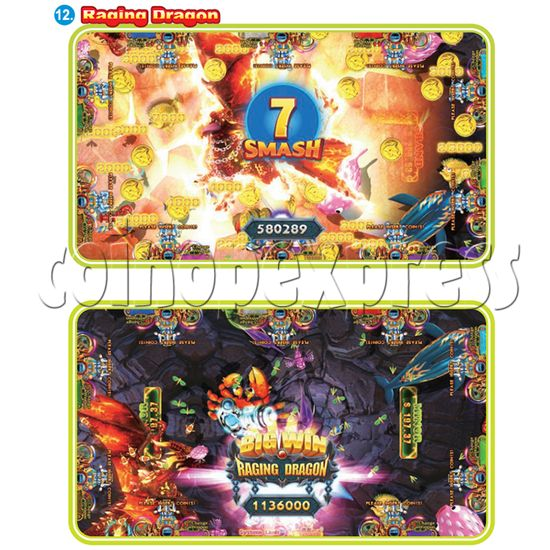 IGS Ocean King 3 Plus: King Kong's Rampage Full Game Board Kit - raging dragon