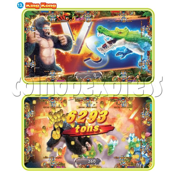 IGS Ocean King 3 Plus: King Kong's Rampage Full Game Board Kit - king kong