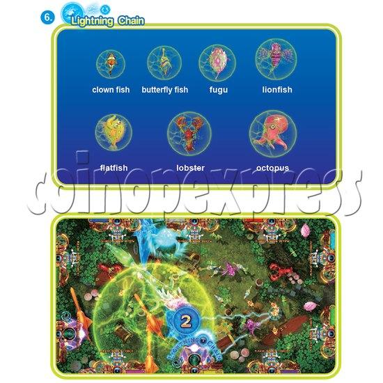 IGS Ocean King 3 Plus: Golden Legend Plus Full Game Board Kit - lightning chain