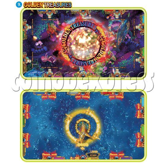IGS Ocean King 3 Plus: Golden Legend Plus Full Game Board Kit - golden treasures