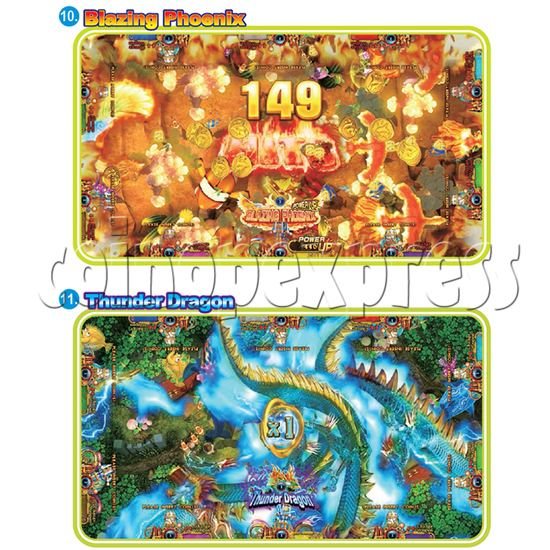 IGS Ocean King 3 Plus: Golden Legend Plus Full Game Board Kit - blazing phoenix&thunder dragon