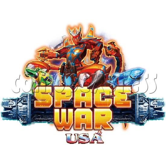 Space War USA Plane Shooter Game Full Game Board Kit - logo
