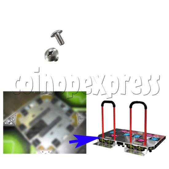 Screw for Corner Metals for DDR Floor Arrows - installation