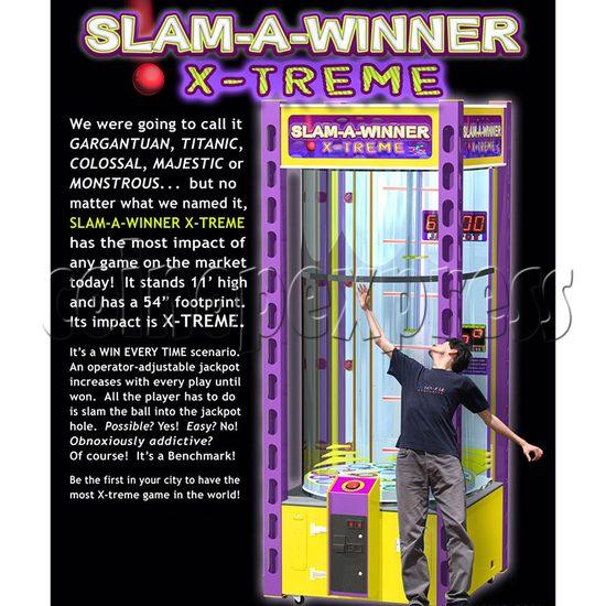 Slam A Winner Extreme Ticket Redemption Machine brochure