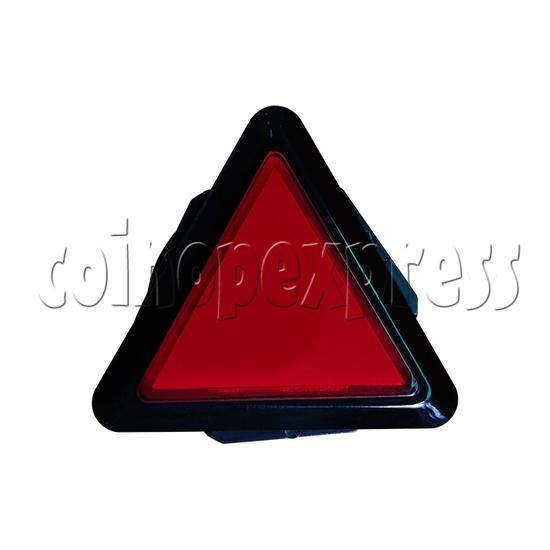43mm Triangular Illuminated Push Button with LED Light - Black Body