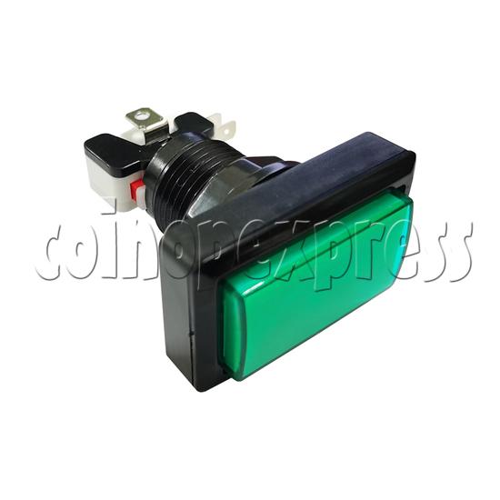 Rectangular Illuminated Push Button with LED Light - Square Edge
