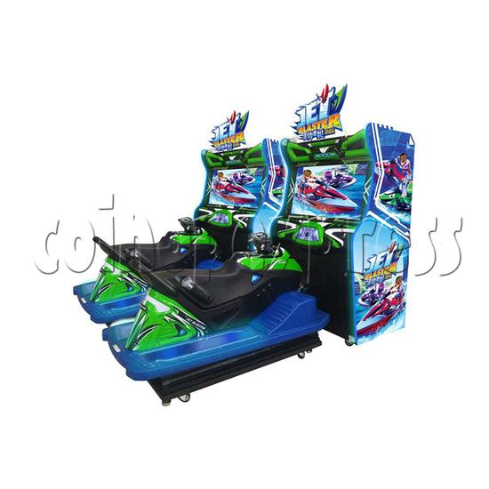 JET Blaster Racing Game Machine - side view
