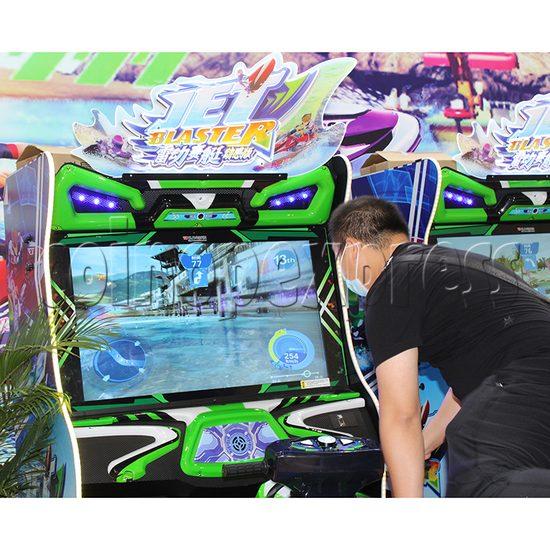JET Blaster Racing Game Machine - screen