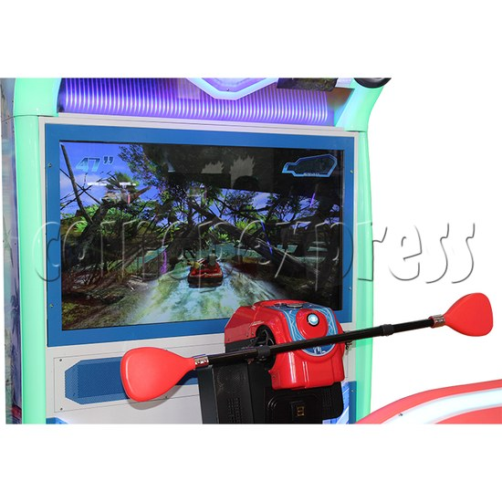 Crazy Rafting Arcade Machine screen display