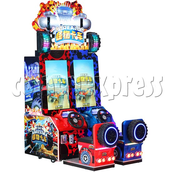 Monster Truck Racing Game Machine Twin