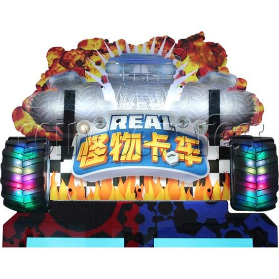 Monster Truck Racing Game Machine Twin header