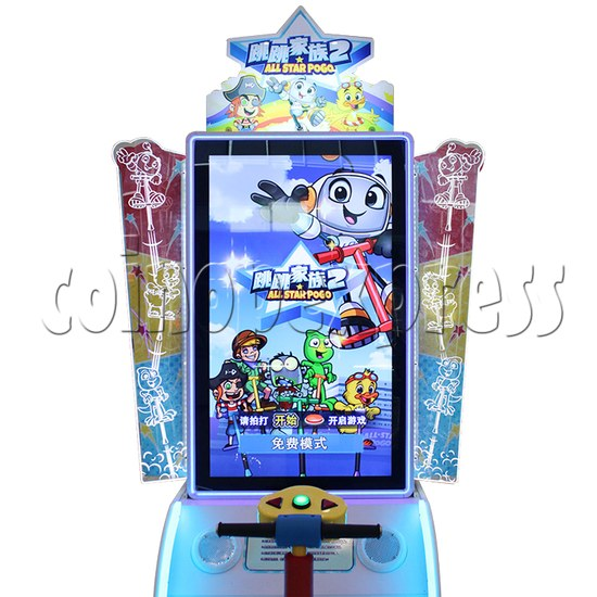 All Star Pogo Jumping Racing Sport Game Machine screen display