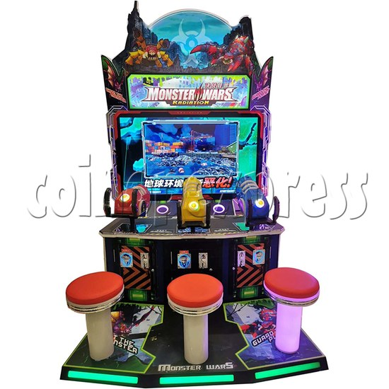 Monster Wars Radiation Simulative Shooting Game Machine front view