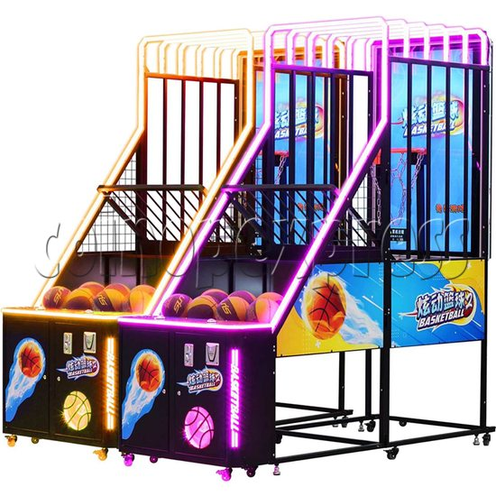 Storm Shot 2 Basketball Arcade Ticket Redemption Game Machine two machines