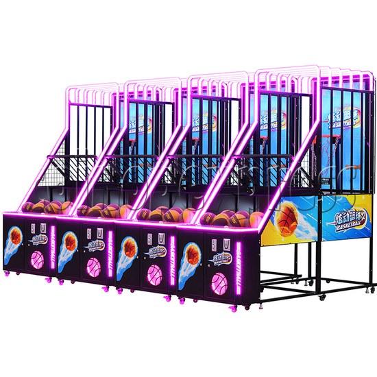 Storm Shot 2 Basketball Arcade Ticket Redemption Game Machine four machines