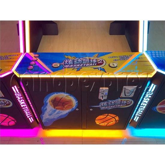 Storm Shot 2 Basketball Arcade Ticket Redemption Game Machine control panel